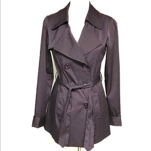 Vertigo Paris deep purple short trench